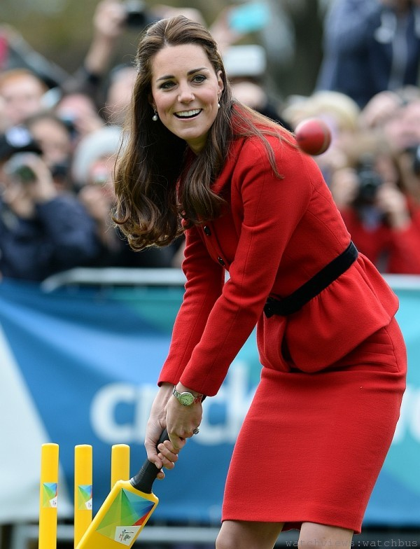 The Duke and Duchess of Cambridge take part in a Cricket World Cup event