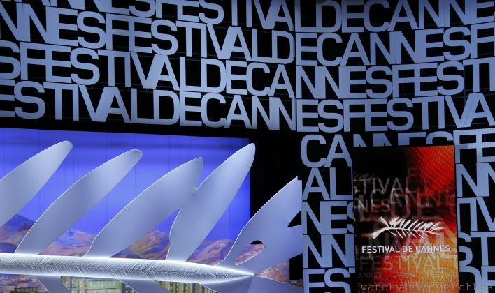 Master of Ceremony actor Lambert Wilson delivers a speech on stage during the opening ceremony of the 67th Cannes Film Festival in Cannes