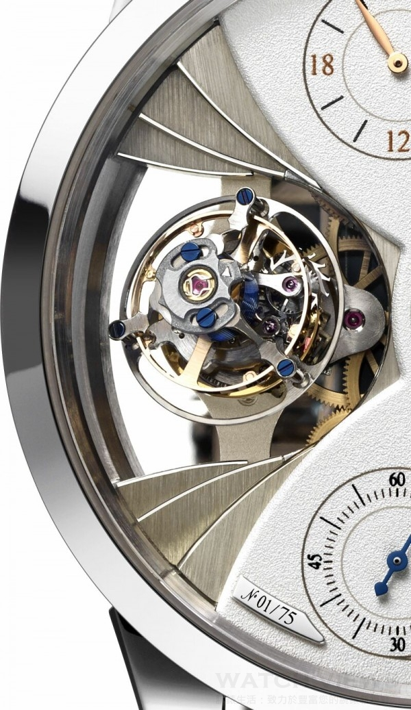 Jaeger-LeCoultre Duometre Spherotourbillon Moon_close-up spherotourbillon and moon phase
