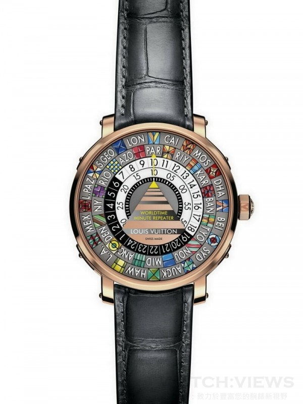 Escale Minute Repeater Worldtime,歐元建議售價約280,000。