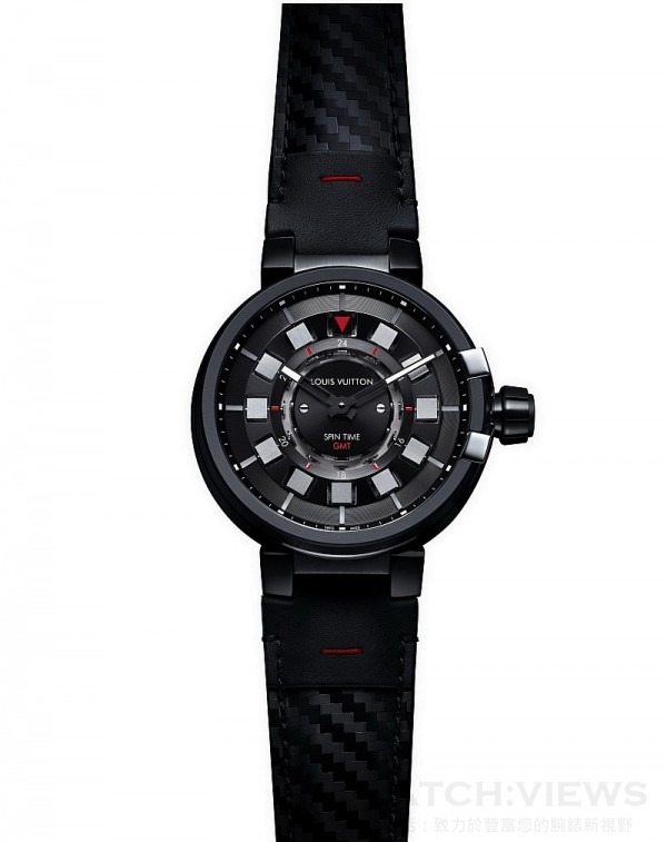 Tambour Evolution Spin Time GMT In Black,歐元建議售價約15,100。