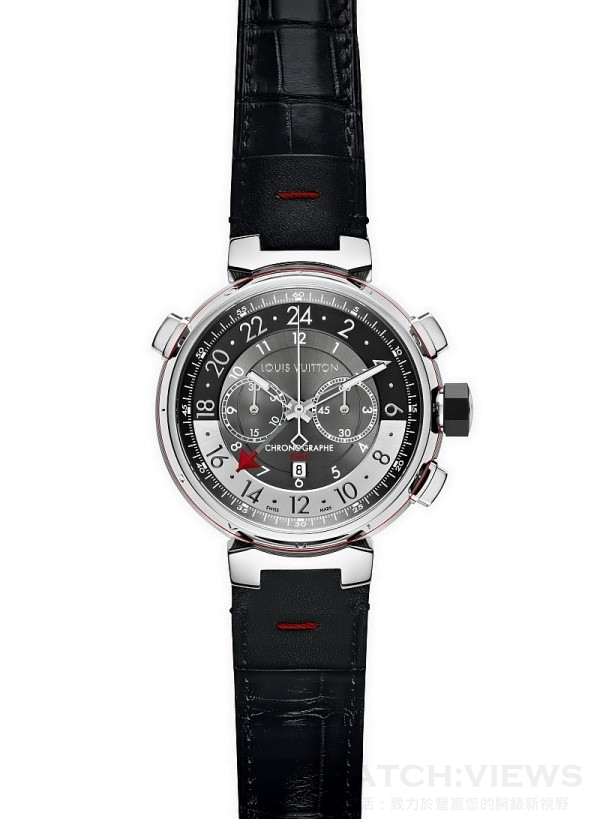 Tambour Graphite Chronographe GMT,歐元建議售價約6,200。