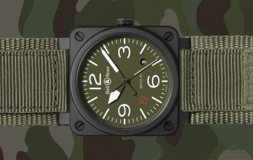 純正的軍用航空腕錶:Bell & Ross BR03-92 Ceramic Military Type