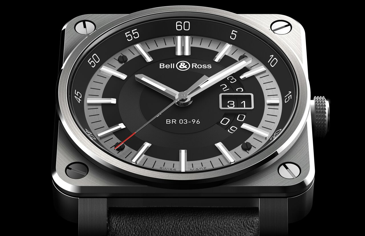 GRANDE DATE FOR GREAT DADDY:Bell & Ross BR03-96大日期視窗腕錶