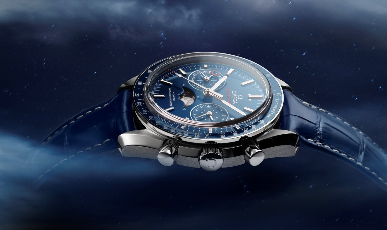 罕見藍月-Once in a Blue Moon:Omega Speedmaster超霸Moonphase大師天文台月相腕錶