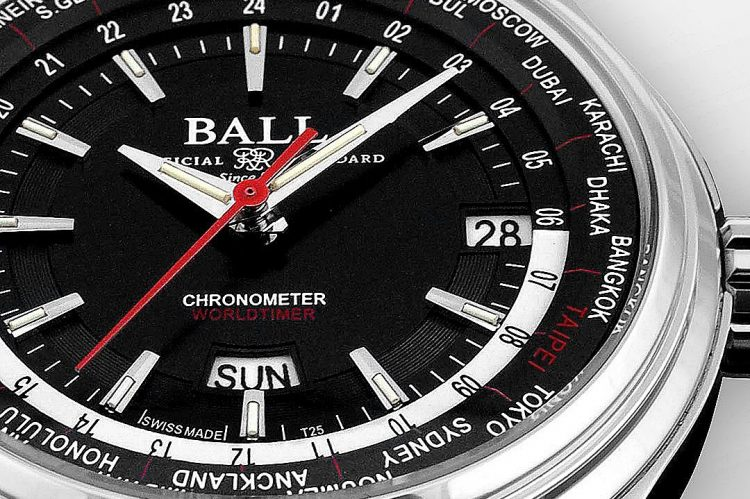 Ball Watch���XTrainmaster Worldtime�ÿ��x�W���q���A�Y��_����u�W�w�q