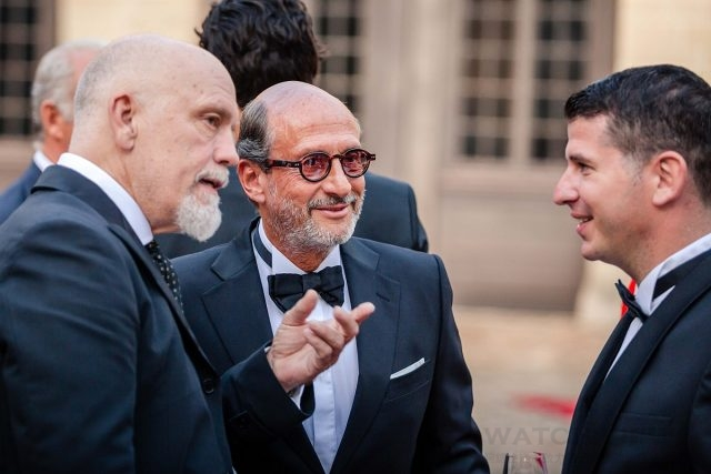 John Malkovich、Richard Miller及 Sylvain Mariat(Head of ACJC's Creative Design Studio)Chantilly Arts & Elegance Richard Mille尚蒂伊古董車大展