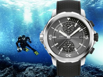 海洋時計與海洋王者面對面:IWC Aquatimer Chronograph Edition Sharks
