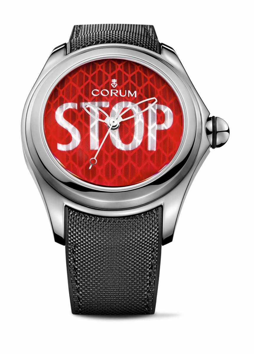 CORUM Big Bubble Stop腕錶,參考售價 NTD 215,000