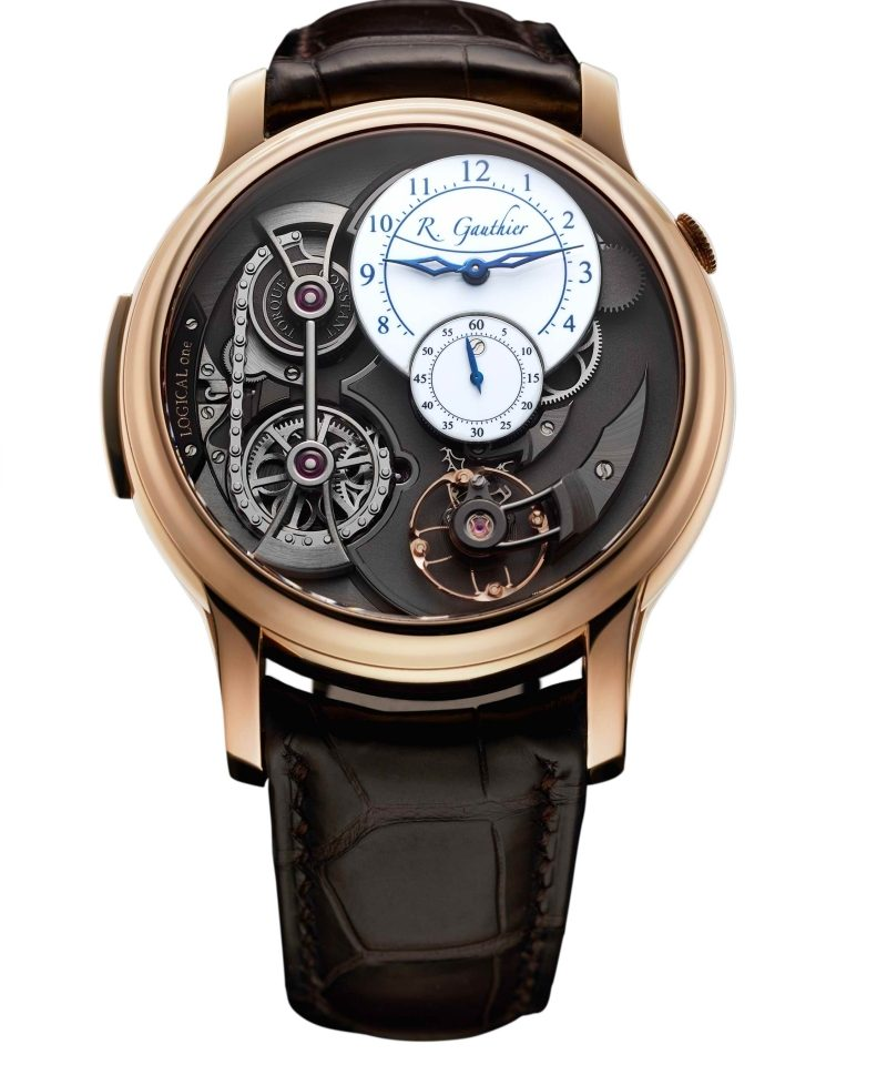 Romain Gauthier Logical One玫瑰金腕錶,建議售價NT$4,720,000。