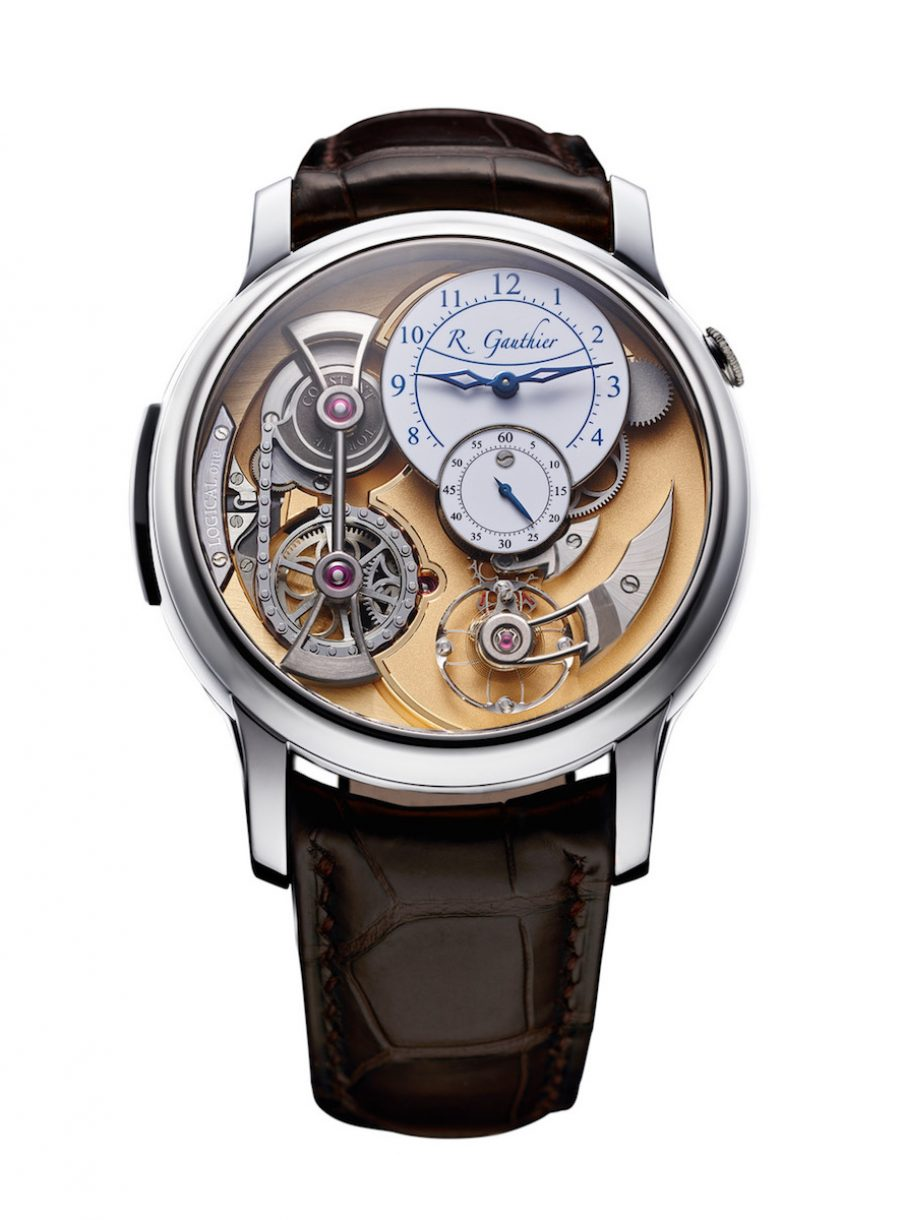 Romain Gauthier Logical One白K金腕錶,參考售價 NTD 4,920,000。