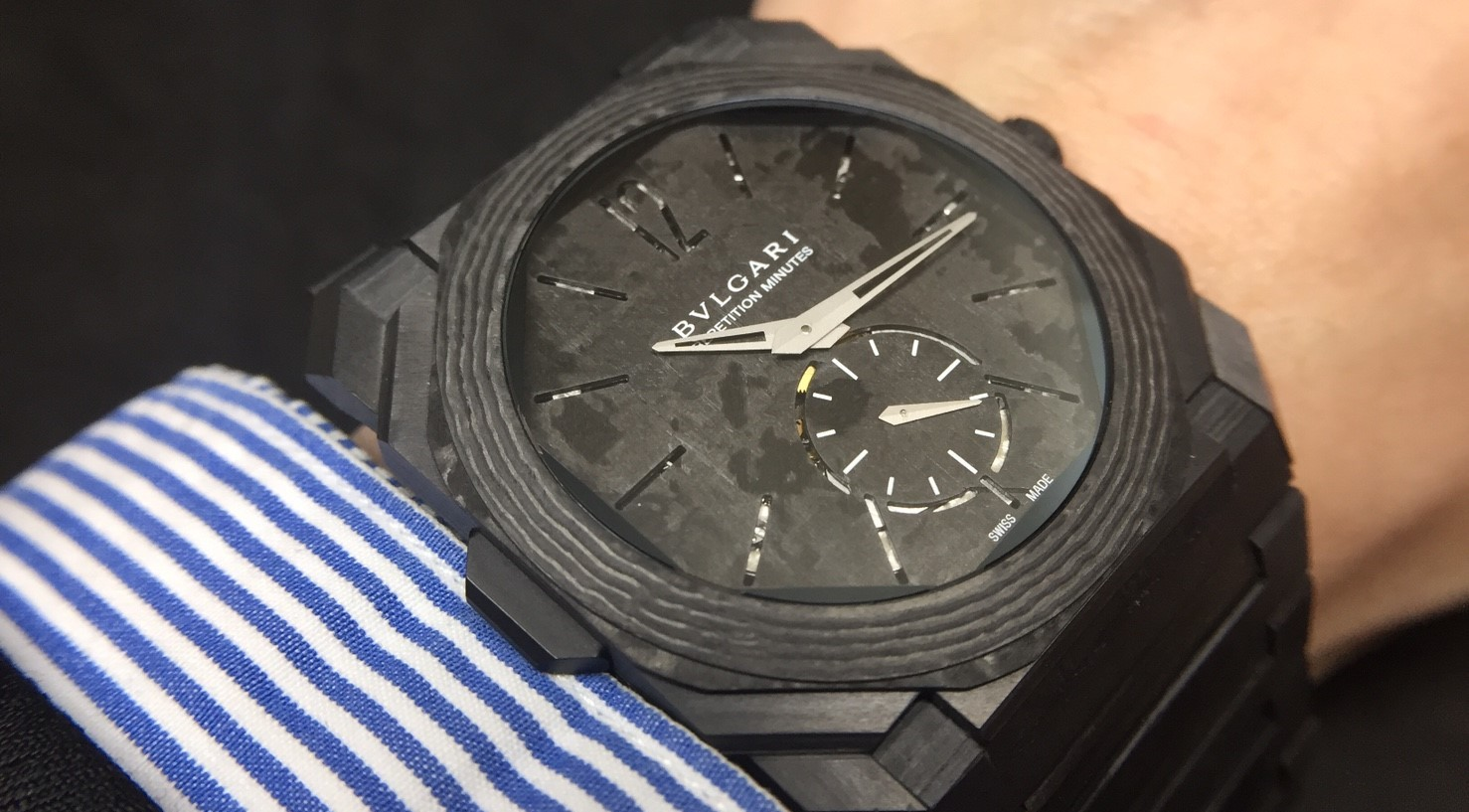 【Baselworld 2018現場直擊】寶格麗Octo Finissimo Minute Repeater Carbon三問錶
