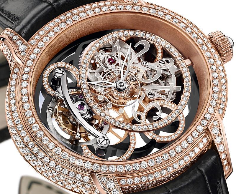 Audemars Piguet愛彼錶Millenary千禧黑寶石陀飛輪腕錶