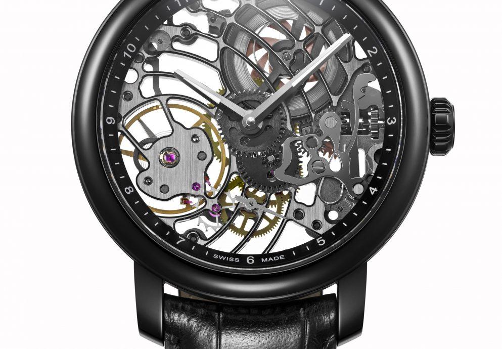 瑞士愛羅錶之黑色文藝復興:Renaissance Black Tornado黑旋風手上鍊鏤空腕錶