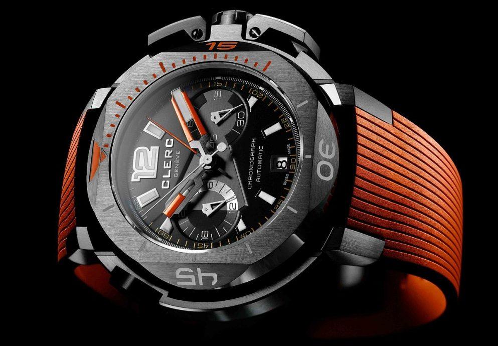 酷炫的探險用儀器:Clerc Hydroscaph Clockwork Orange限量版中央積算計時碼錶