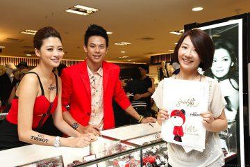 天梭表三越南西店專櫃開幕,性感女神琳恩、演員孫綻擔任一日店長與粉絲同台較勁
