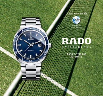 夏季網體壇饗宴,分秒之差的瞬間:雷達表D-Star 200成為倫敦AEGON冠軍賽官方指定計時