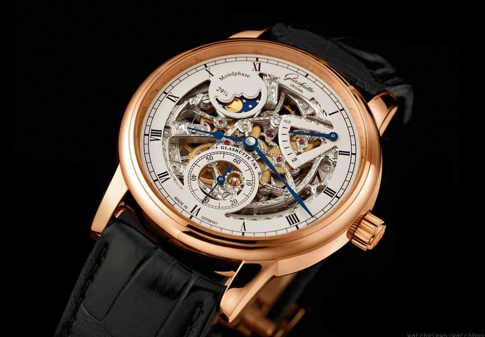 品細緻雕琢‧賞鏤空明月:格拉蘇蒂Senator月相鏤空錶現於三寶名表展示