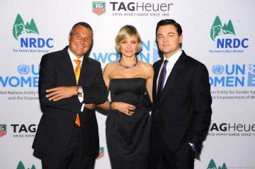 連結‧「LINK」‧希望:TAG Heuer 豪雅雙巨星卡麥蓉狄亞與李奧納多於紐約發揚慈善