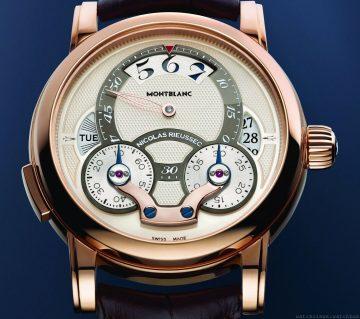 日夜不同風貌的計時腕錶:萬寶龍 Nicolas Rieussec Rising Hours