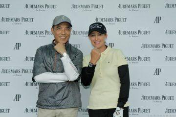 世界級女子職業高爾夫球選手、愛彼品牌大使可兒Cristie Kerr來台,與VIP進行高球趣味競賽
