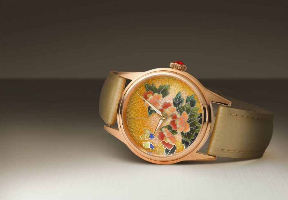 EDOX依度表跨界合作中國景泰藍大師,祥瑞花卉琺瑯機械腕表 限量上市