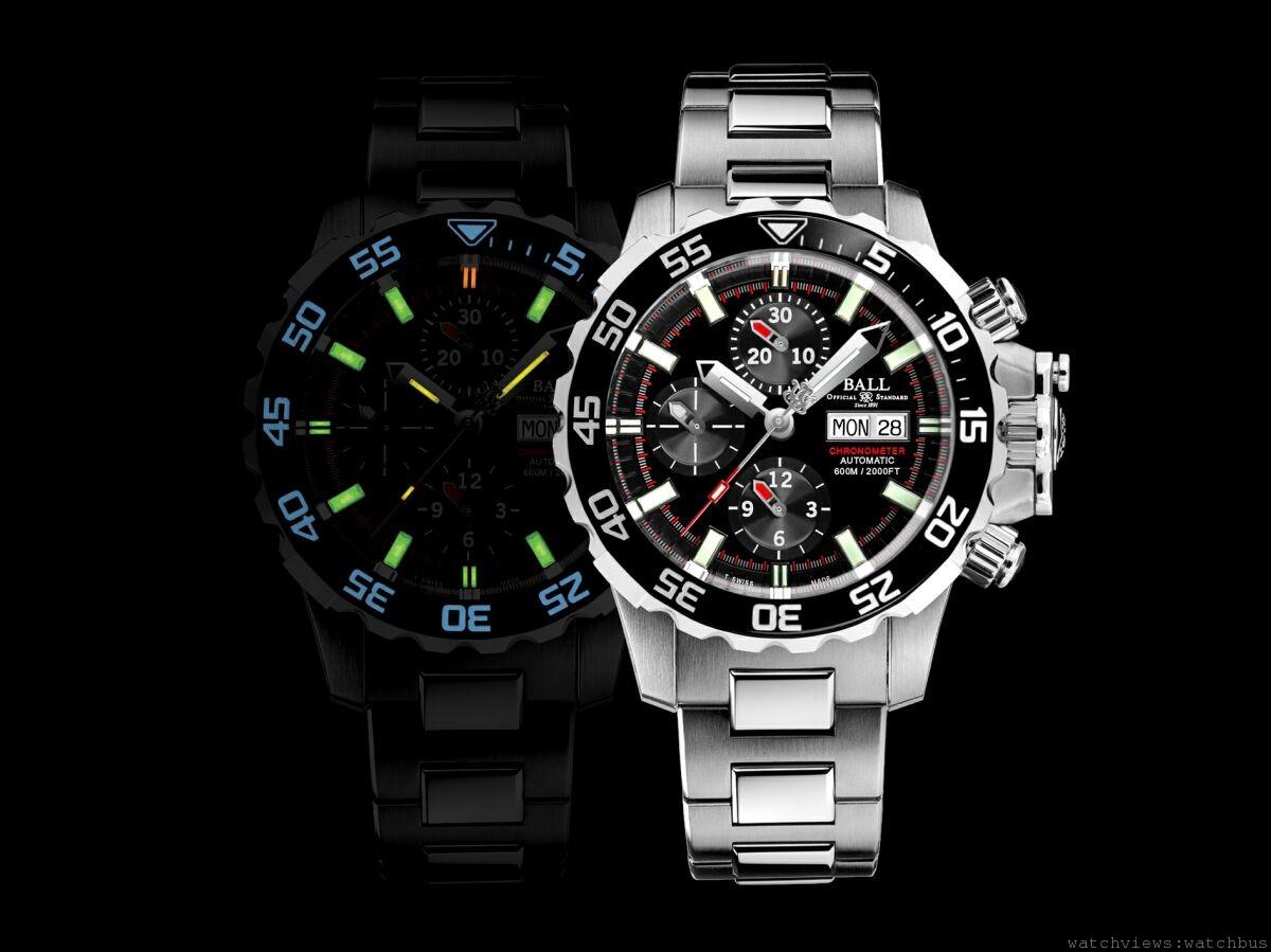 全球首枚錶冠內置氦排放閥的潛水時計:Ball Watch Engineer Hydrocarbon NEDU