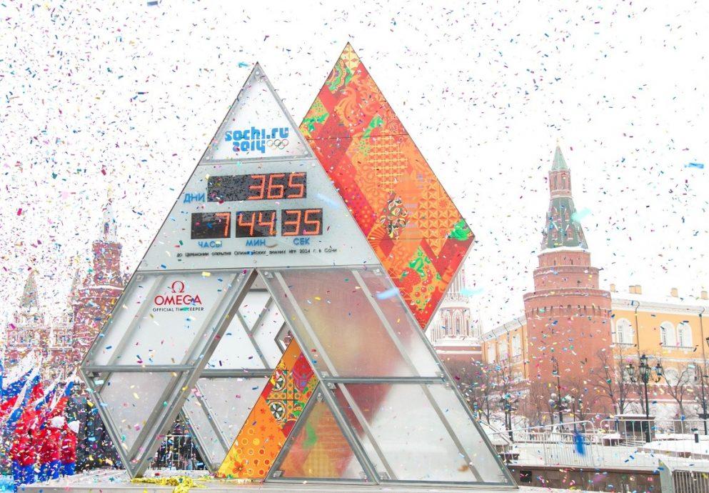 OMEGA第26次擔任奧運官方計時單位,與俄羅斯索契一同為2014冬季奧運會開始倒數