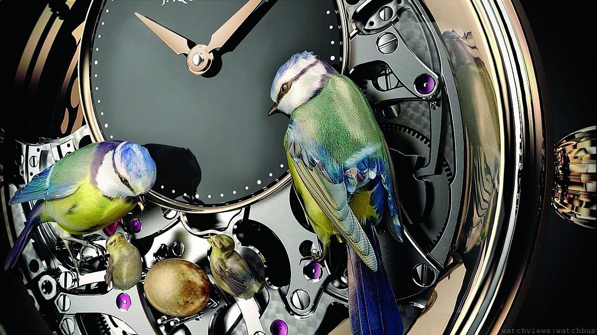 跨越時空的夢想:雅克德羅JAQUET DROZ的THE BIRD REPEATER報時鳥三問錶