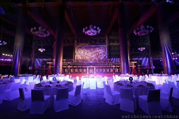O'Clock Exhibition - Gala Dinner at Tai Miao - Setup