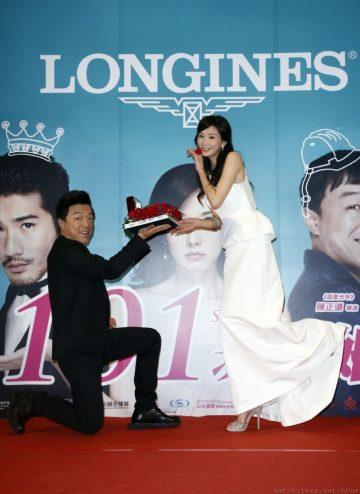 浪琴表甜蜜贊助電影『101次求婚』,全球代言人林志玲化身美麗大提琴演奏家,翩翩拉奏優雅幸福樂章