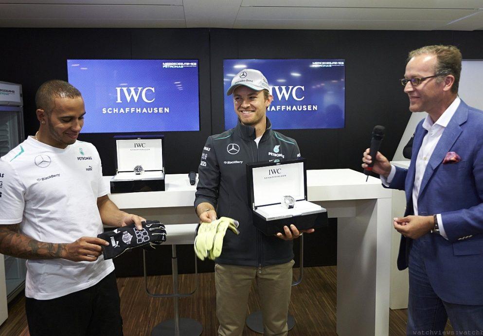 路易斯•漢米爾頓Lewis Hamilton與尼科•羅斯伯格Nico Rosberg成為沙夫豪森IWC萬國錶最新形象大使