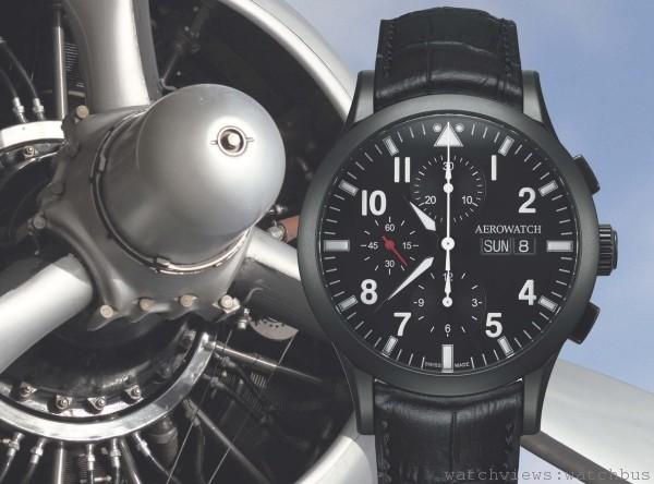 Aerowatch愛羅錶獻給帥氣老爸,飛行計時系列酷帥出擊