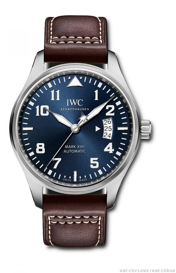 IWC馬克十七飛行員腕錶「小王子」特別版,'不鏽鋼錶殼,直徑41毫米,時、分、秒、日期,30110型自動上鍊機芯,動力儲能42小時,防水60米,小牛皮錶帶,限量1000只。