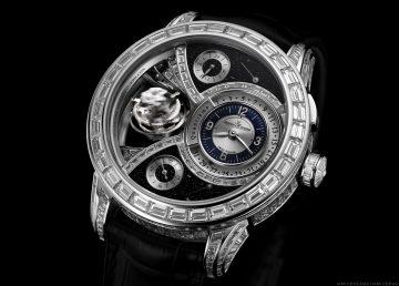 香港「鐘錶與奇蹟」展:積家Duometre Spherotourbillon Blue雙翼立體雙軸陀飛輪腕錶展現時間無限的珍貴魅力