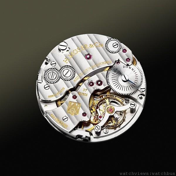 Moser在工藝技術與創新上的努力,比如說自製摆輪游絲、專利的可換式擒縱器、Straumann雙游絲擒縱器等獨到技術,不僅讓機芯的律動更富深度,更確立了錶廠將來成為頂尖製錶者的領導地位。