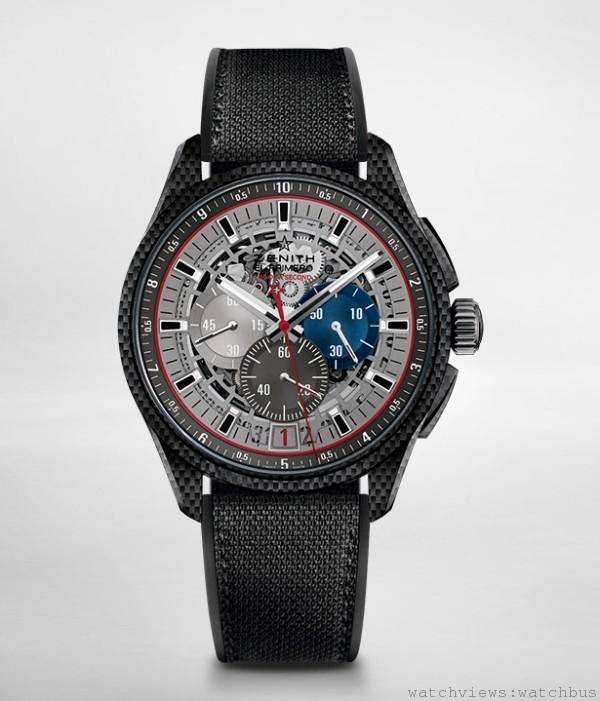 El Primero Striking 10th十分之一跳秒計時腕錶Lightweigh超輕量腕錶,錶款訂價 NTD 622,000。