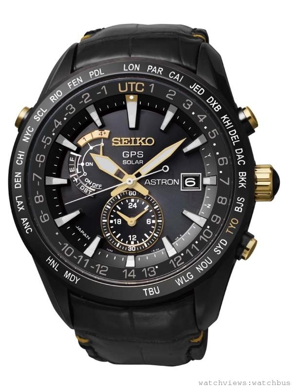 SEIKO ASTRON服部金太郎特別限量版腕錶,白鈦錶殼,錶徑47毫米,陶瓷錶圈/GPS 衛星電波收信 / 萬年曆 (自動校正至2100年2月) / 指針位置修正功能 / 世界時間(全球39個時區) / 環保太陽能 / 省電模式 / 動力儲存顯示 / 夏令時間 / 兩地時間 / 飛航模式 / 夜光顯示 / 另附可替換白鈦錶帶,7X52 GPS太陽能機芯,全球限量5000只 / 台灣限量145只,NT$112,000。