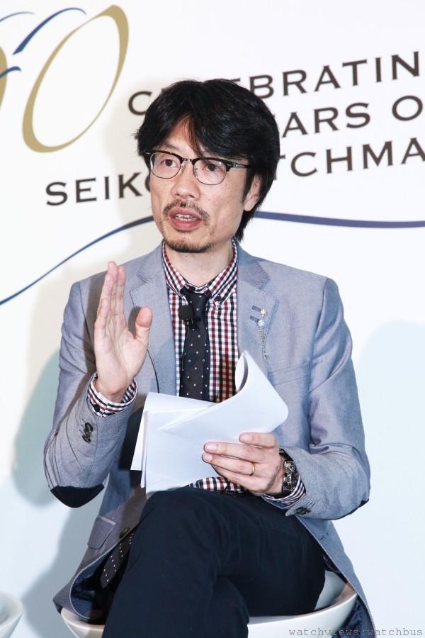 SEIKO商品設計部課長 佐藤紳二,現今擔任ASTRON、BRIGHTZ、LUKIA等系列商品的設計主任,特地台來分享SEIKO腕錶的開發、與其設計創作精神。