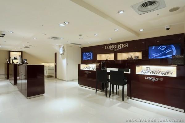 浪琴表全新旗艦店承襲全球一致的優雅風格