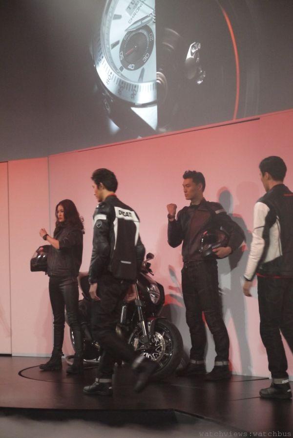 帝舵表展演與杜卡迪摩托車跨界合作,今年更推出一款帝舵Fastrider Black Shield。