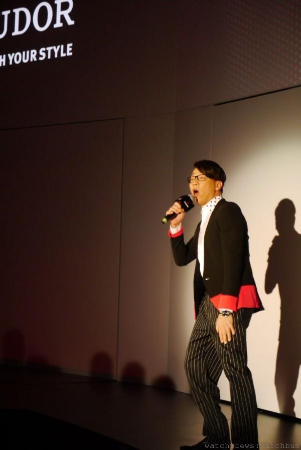 偶像歌手陶喆在帝舵之夜熱唱,並透露特別偏好Fastrider Black Shield。