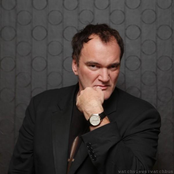 Quentin Tarantino昆汀·塔倫提諾獲頒贈一枚Girard-Perregaux 1966系列年曆天文時差腕錶
