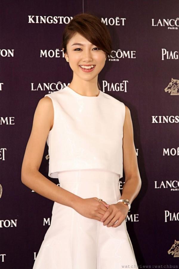 顏卓靈入圍金馬第50屆最佳女主角,配戴伯爵出席金馬獎歡迎暨入圍酒會。