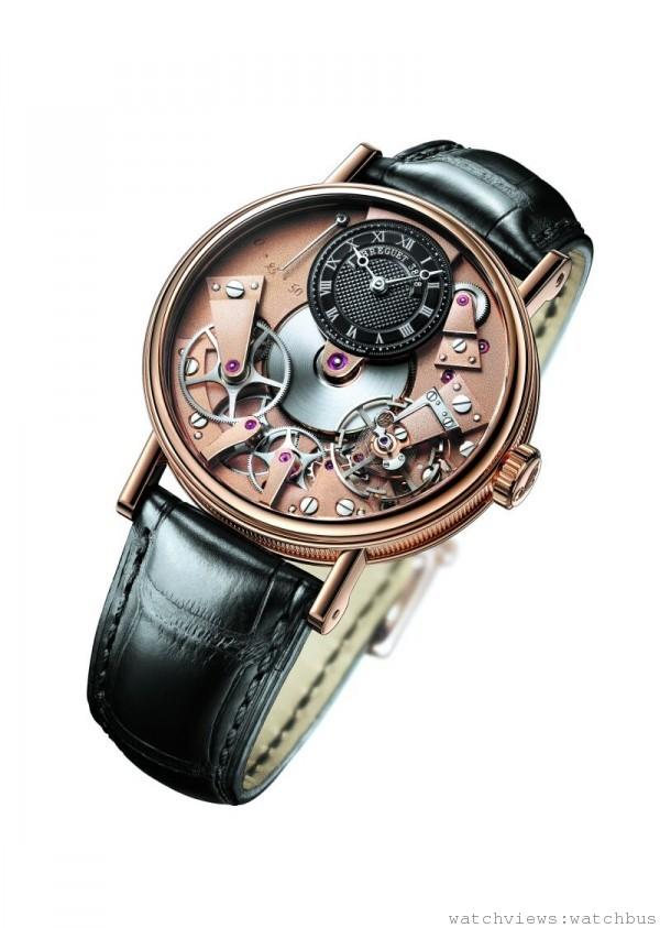Breguet Tradition 7027,18K玫瑰金錶殼,鍍銠18K金錶盤,手上鍊腕錶,定價NTD857,000