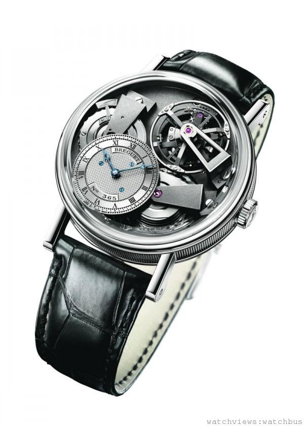 Breguet Tradition 7047 ,鉑金錶殼,芝麻鍊陀飛輪腕錶,定價NTD6,121,000