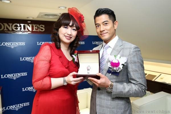 浪琴表台灣區副總經理張正勳Erica與郭富城及浪琴表典藏系列限量彩繪腕錶