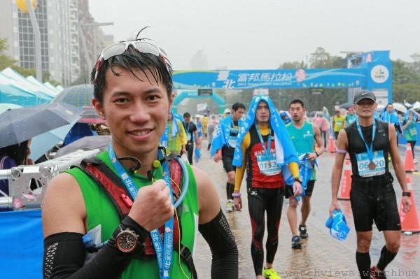 陳彥博順利跑完42.195公里的全馬賽程。