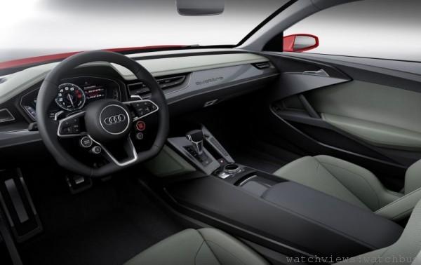 Audi Sport quattro laserlight concept概念車採用的高解析度TFT液晶觸控螢幕,可提供駕駛者高解析度的3D影像訊息。