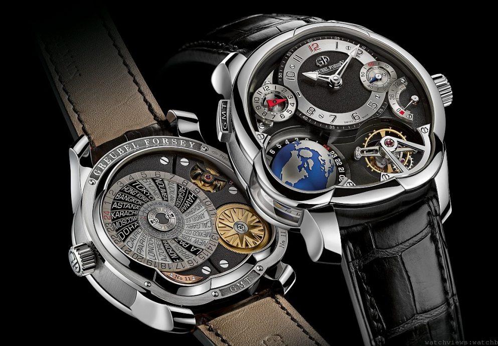 鉑金裝點Greubel Forsey GMT時計